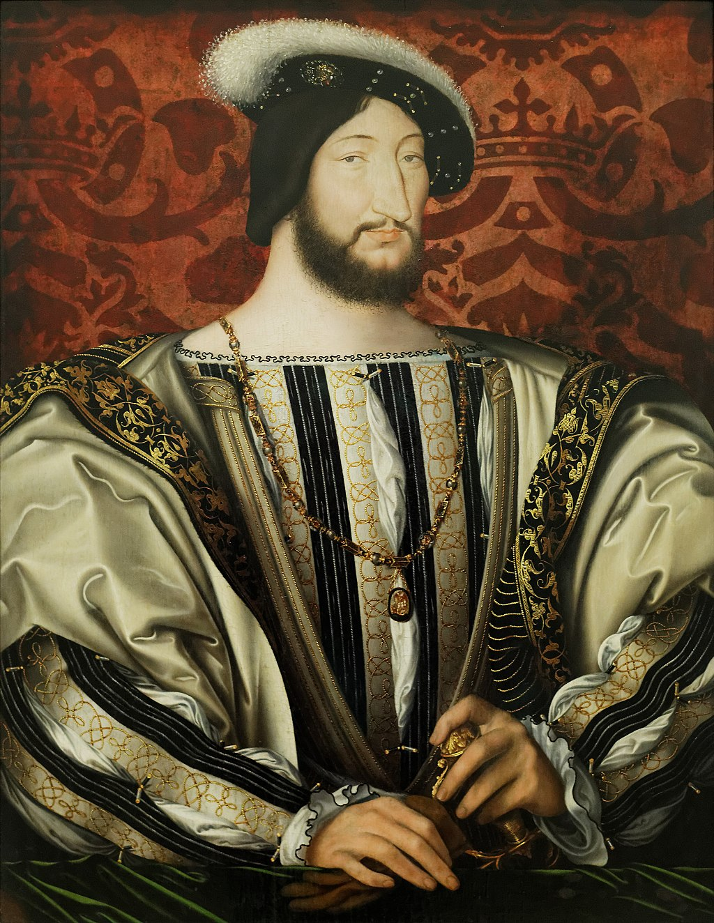 François I, king of France, Louvre (Public Domain image from Wikipedia)