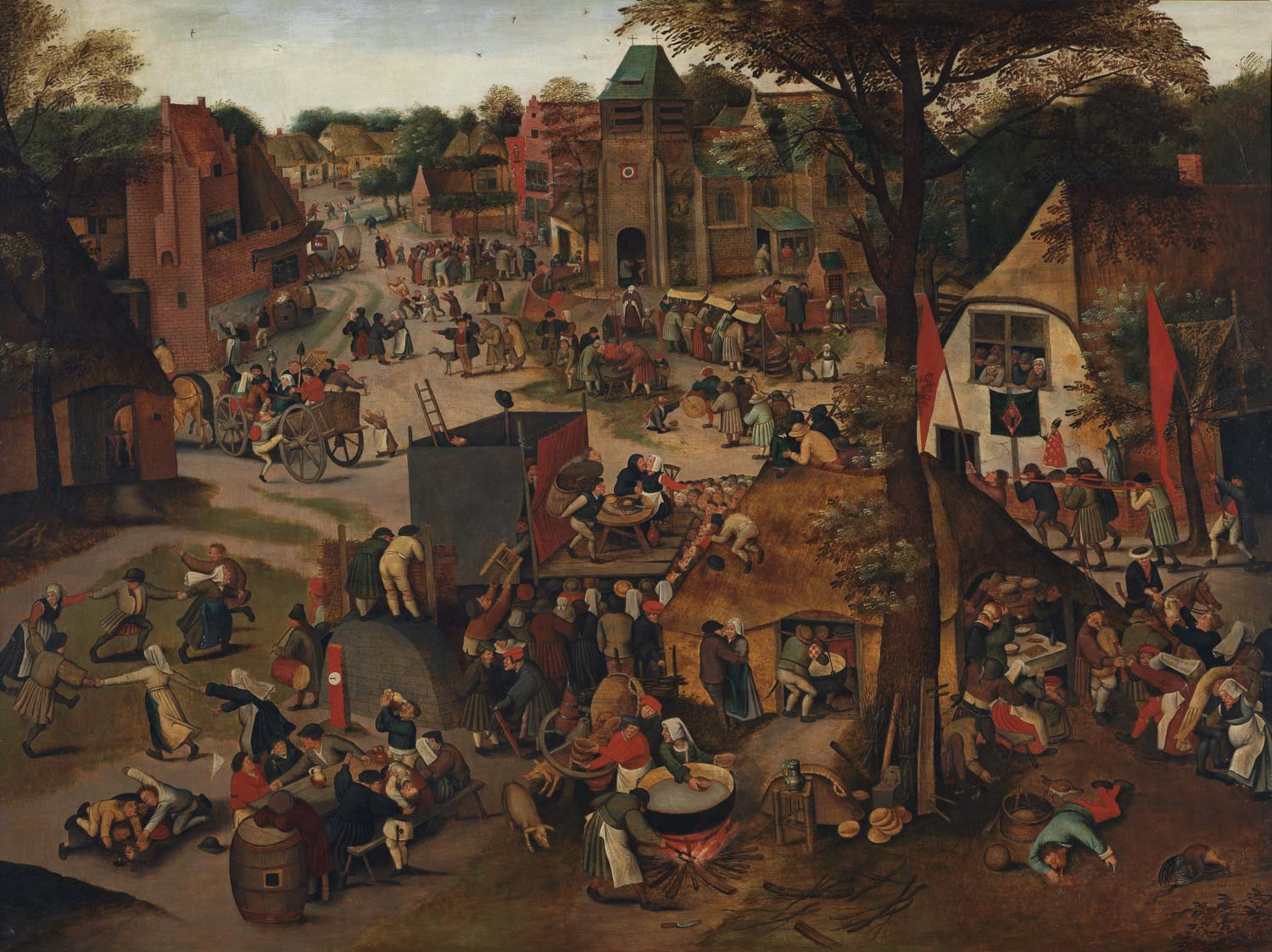 A Village Festival, by Pieter Brueghel the Younger