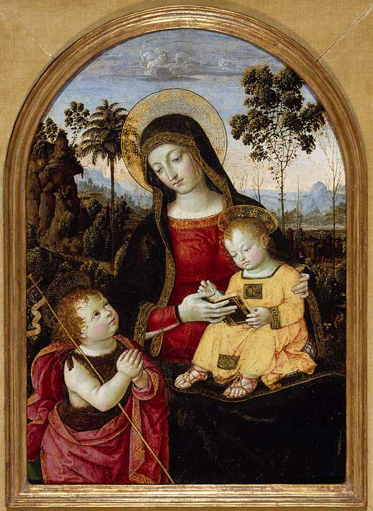 Virgin and Child with St John the Baptist