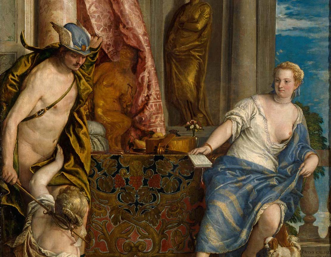 Paolo Veronese's depiction of Hermes in the chamber of Herse