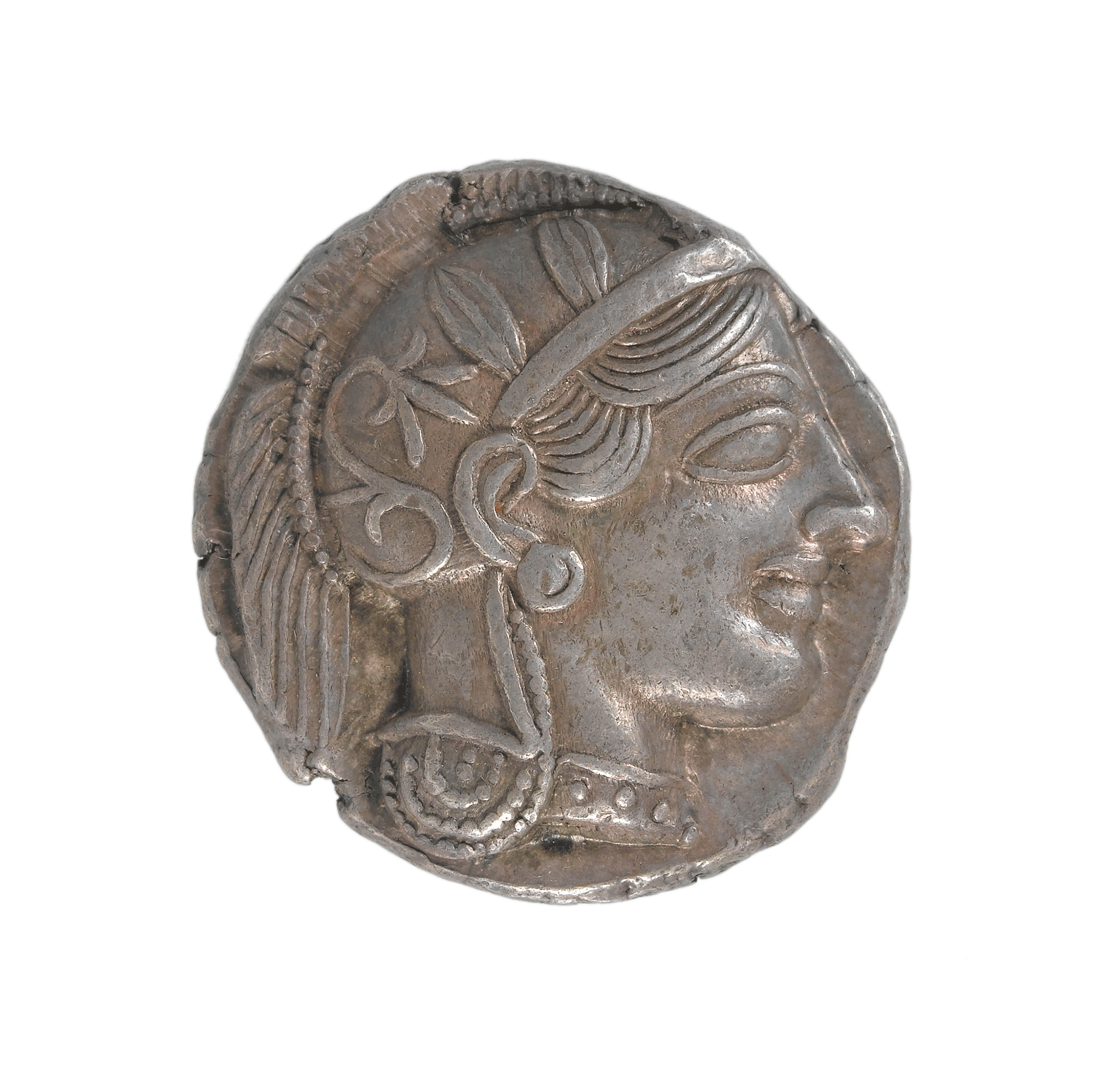 A drachma showing Athena