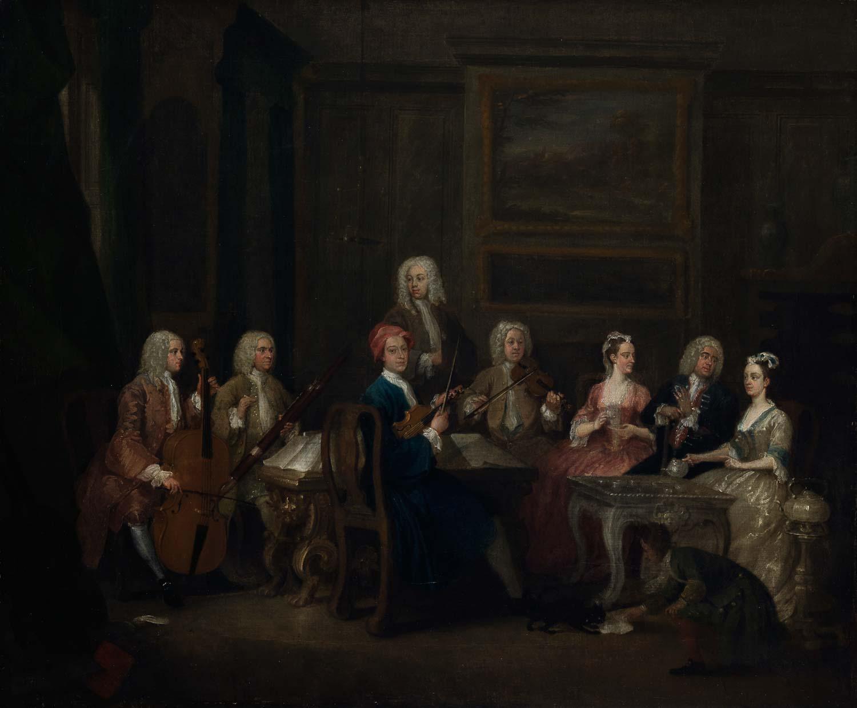 A Musical Party, the Mathias Family, by Gawen Hamilton