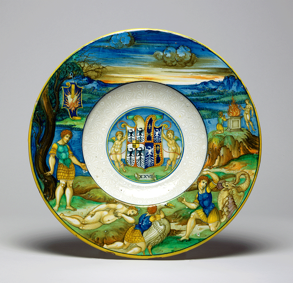 A dish from Isabella D'Este's service collection