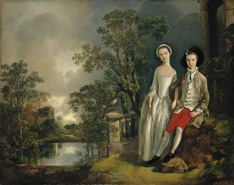 Heneage Lloyd and his sister, c.1750