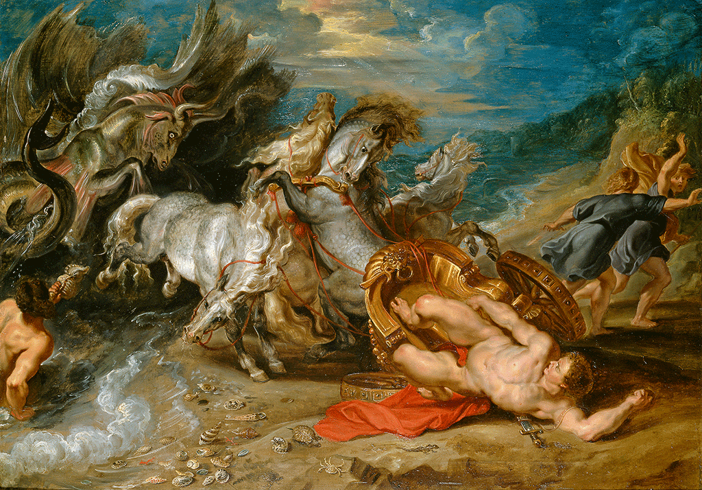 The death of Hippolytus by Rubens