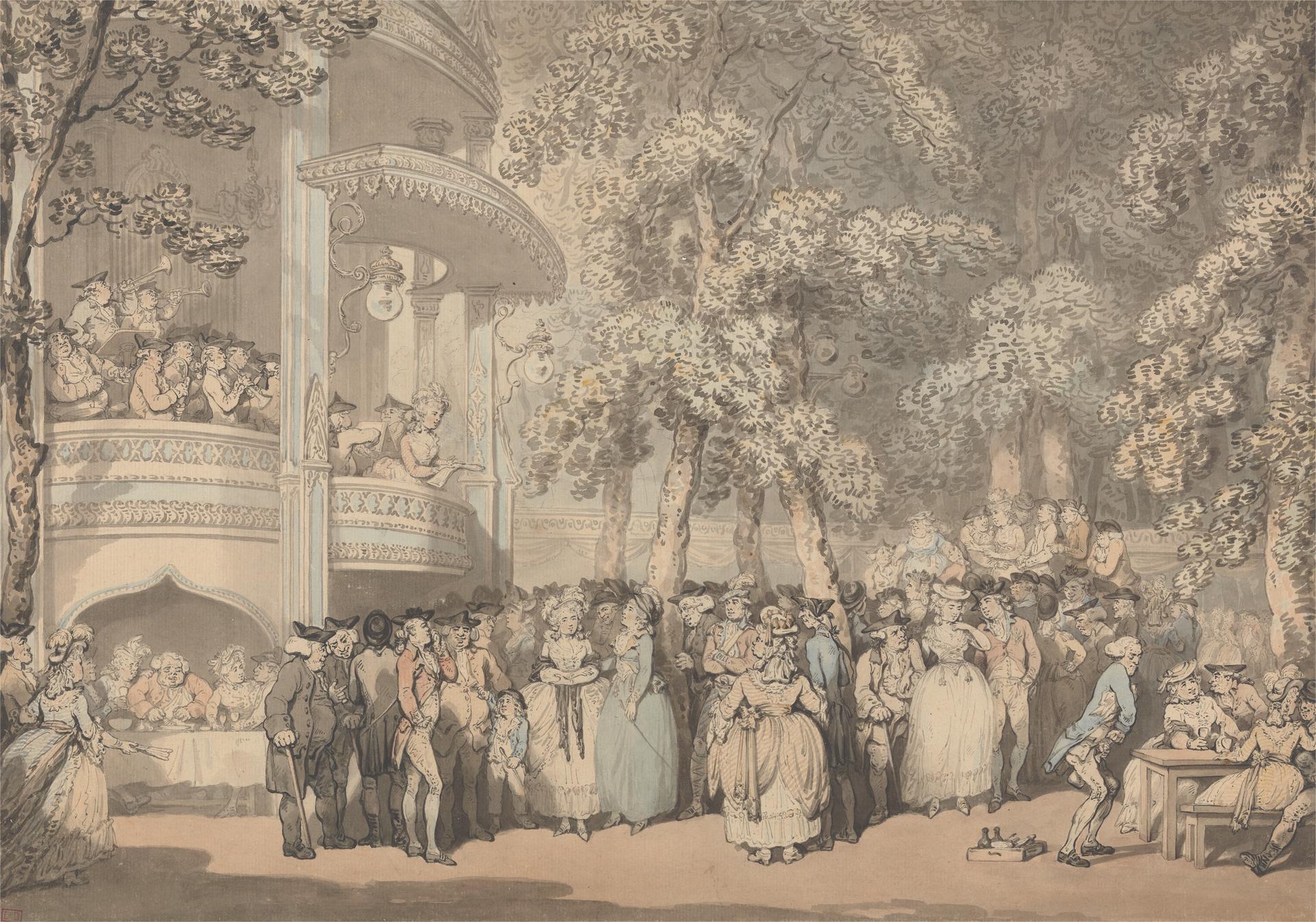 Vauxhall Pleasure Gardens: Licence: Public Domain, Yale Center for British Art