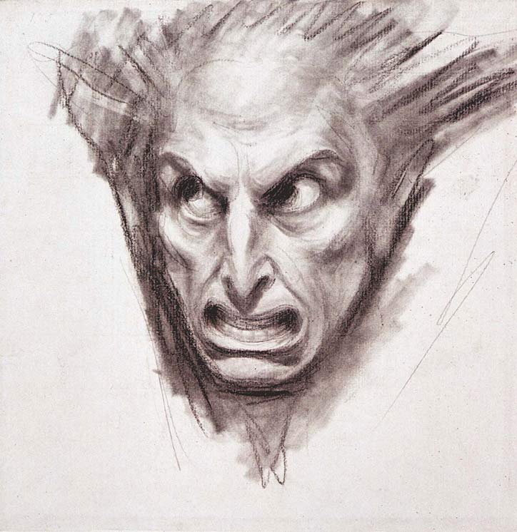 A study for a fiend's head