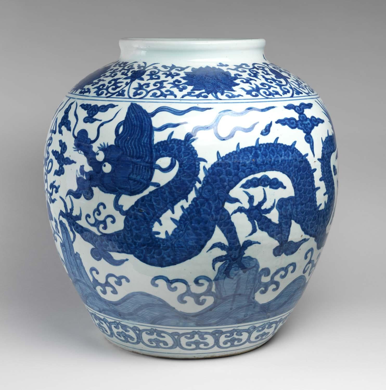 Chinese Dragon Jar