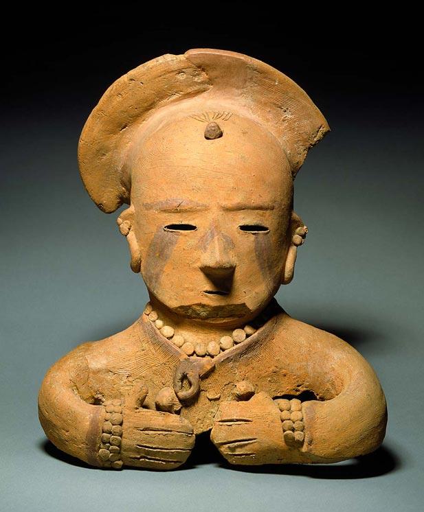A Haniwa female figurine