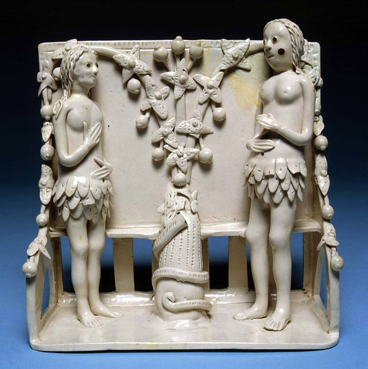 'Pew group' with Adam and Eve
