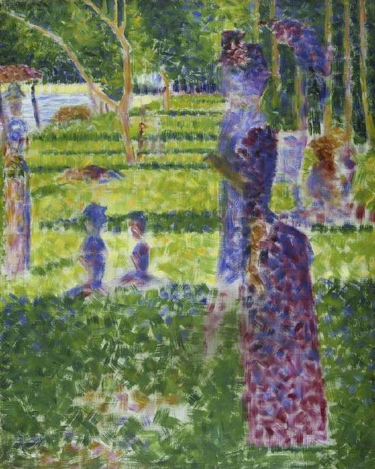 Study for A Sunday on the Island of la Grande Jatte: couple walking