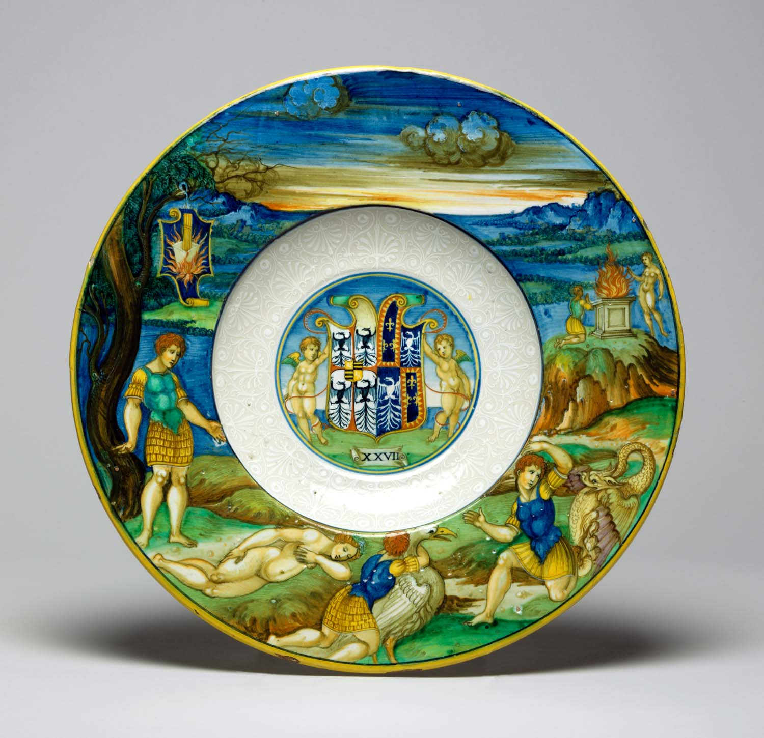 A bowl showing the story