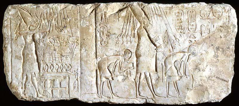 Relief of the heretic king Akhenaten (limestone)