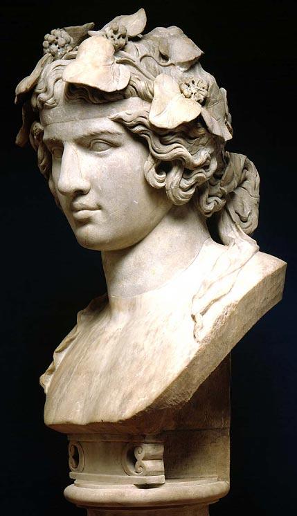 Bust of Antinous as Dionysos
