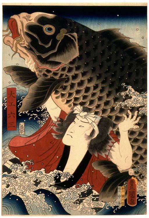 Ichikawa Ichizo III as Rokusaburo the Carpenter,