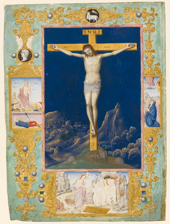 Crucifixion miniature, by Giovanni Todeschino
