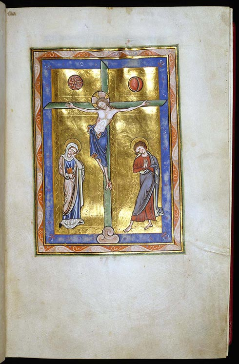 A page from a Psalter from Peterborough