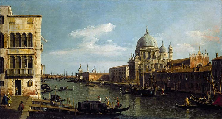 A view of Venice Canal by Canaletto