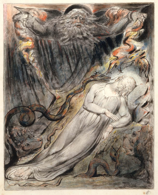 Christ's troubled sleep, by William Blake