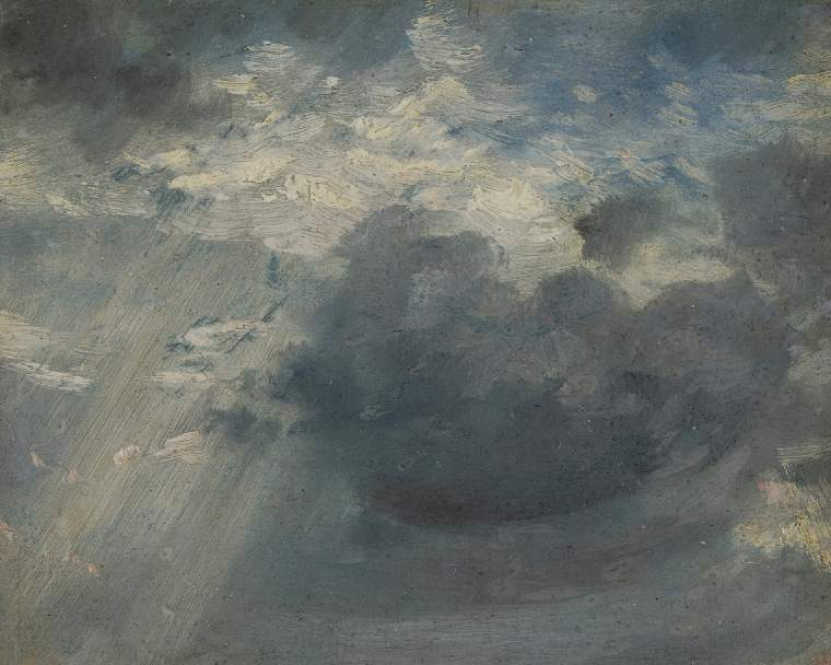 Sky Study, with a shaft of sunlight