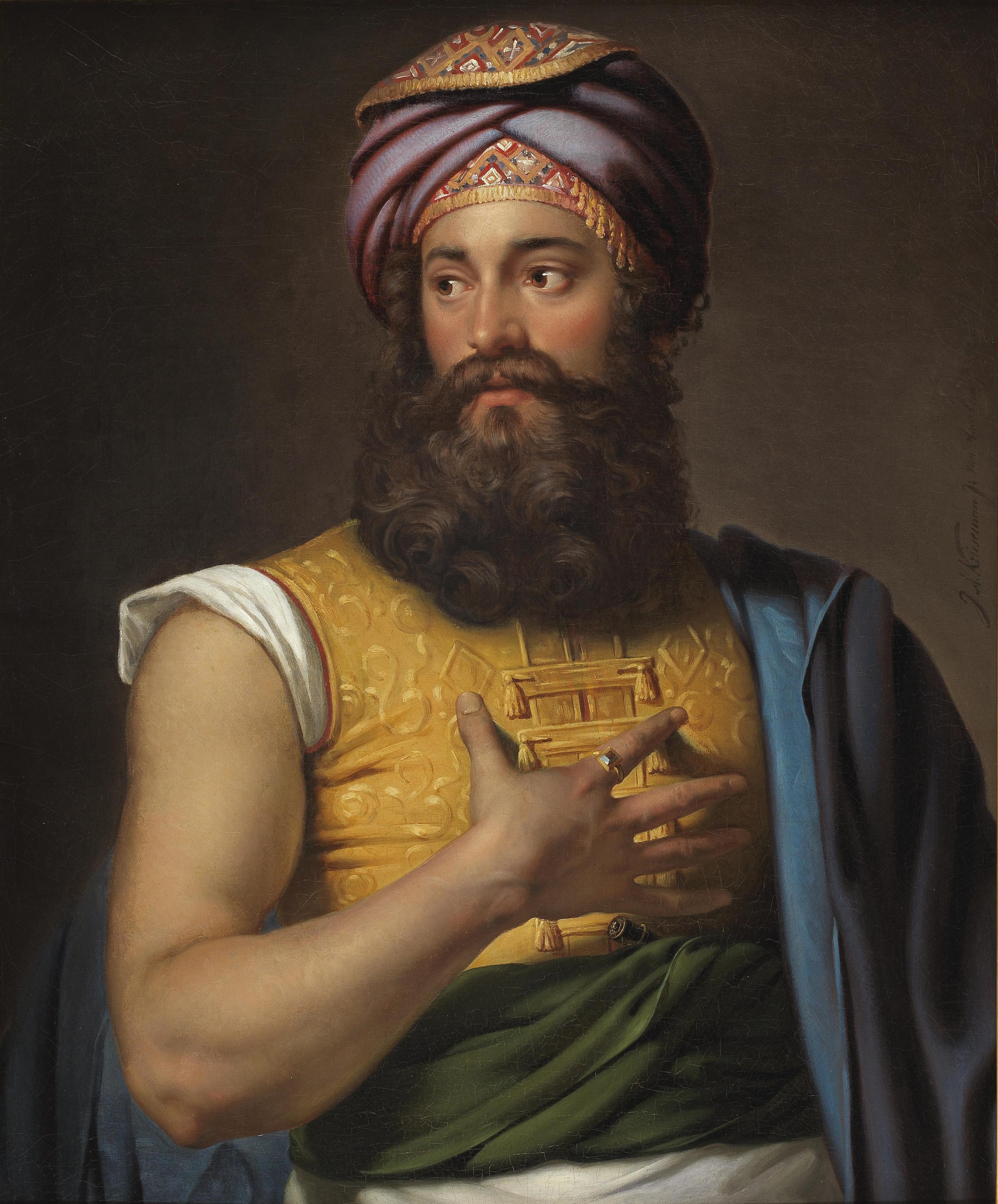 A portrait of the Great Belzoni by Jan Adam Kruseman (1804–62)