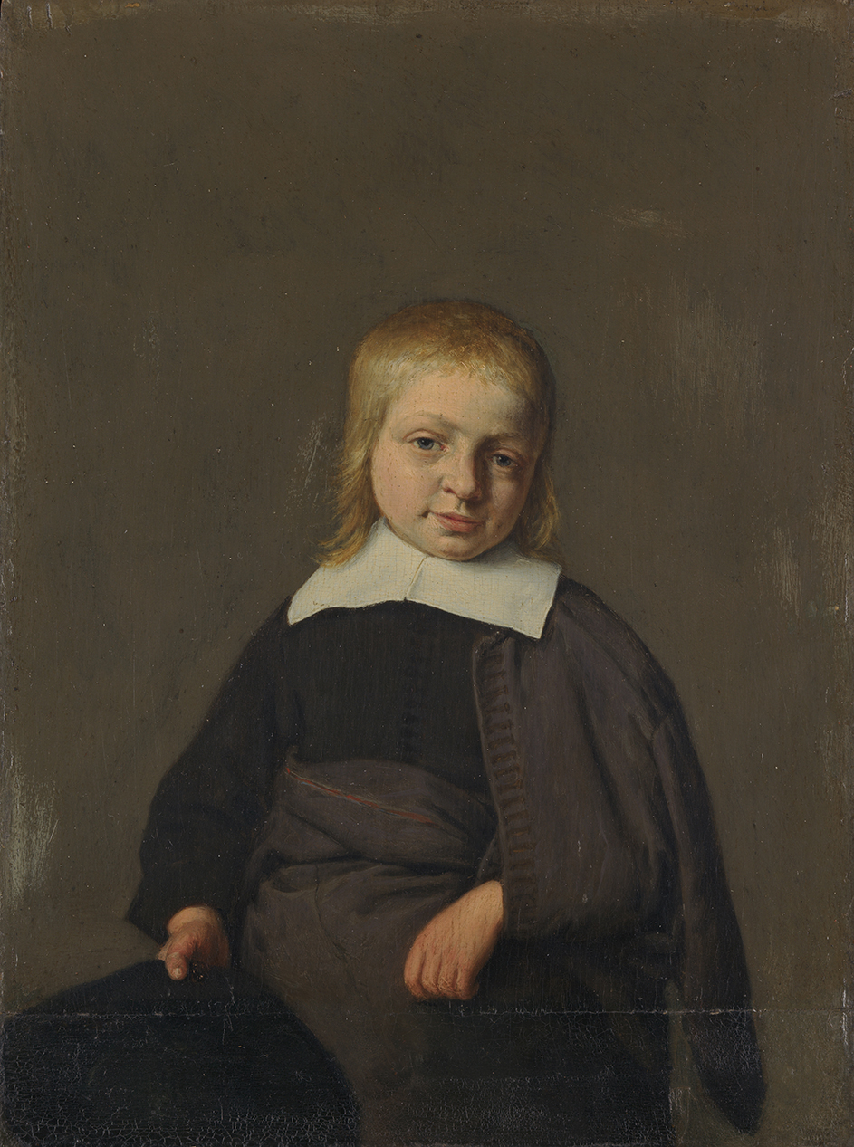 Portrait of a Boy, three-quarter-length, holding a hat