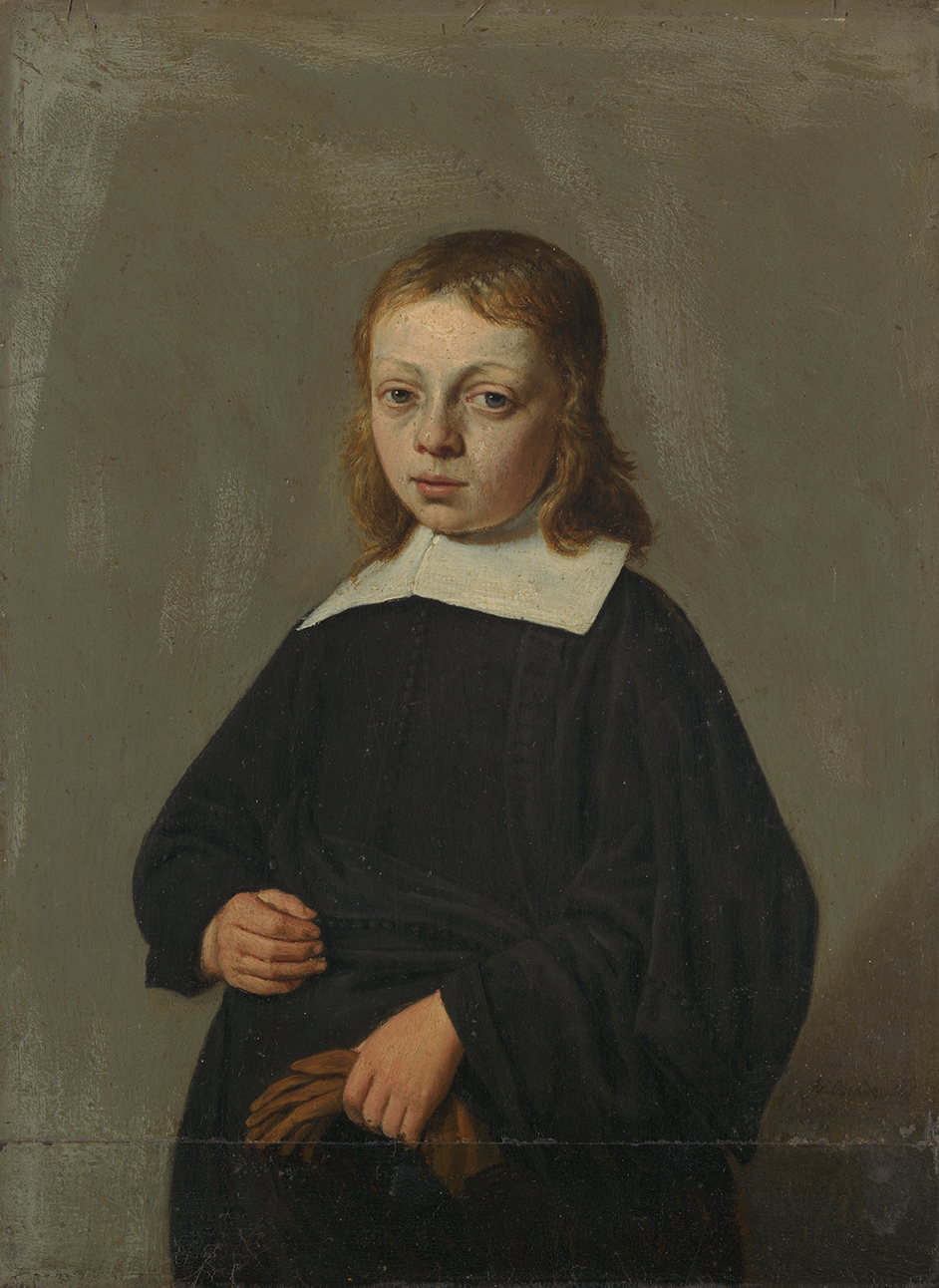Portrait of a Boy, three-quarter-length, holding gloves