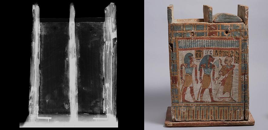 X-Ray of an Egyptian Shabti Box